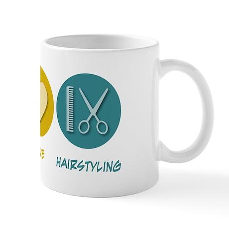 Peace Love Hairstyling Mug