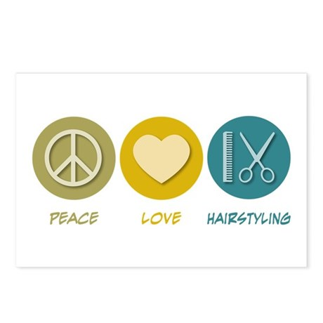 Peace Love Hairstyling Postcards (Package of 8)