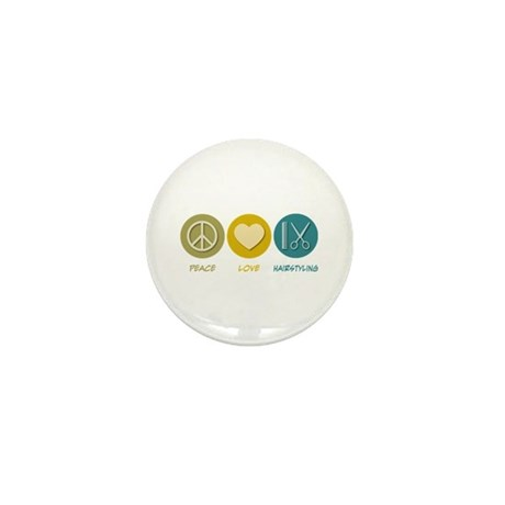 Peace Love Hairstyling Mini Button (10 pack)