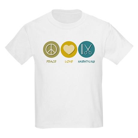 Peace Love Hairstyling Kids Light T-Shirt
