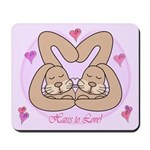 Hares to Love! Mousepad