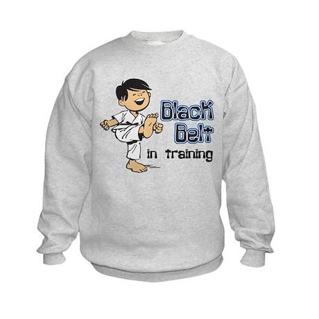 Black Belt in Training Kids Sweatshirt