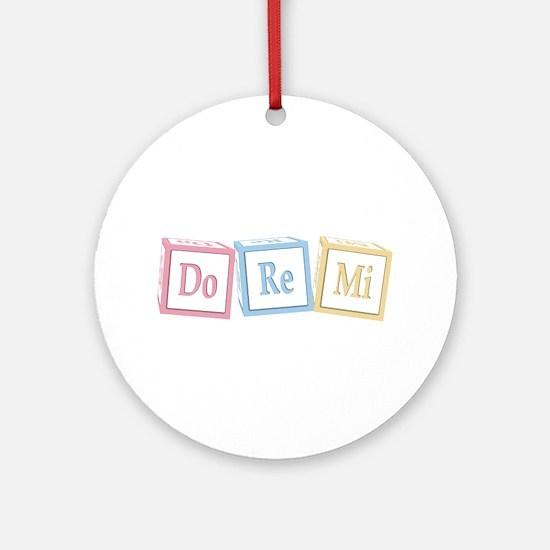Do Re Mi Baby Blocks Ornament (Round)