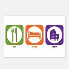 Eat Sleep Latin Postcards (Package of 8)