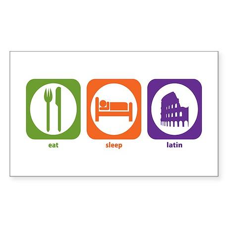 Eat Sleep Latin Rectangle Sticker