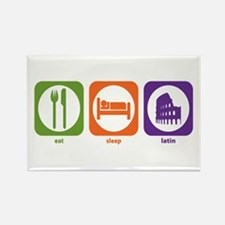 Eat Sleep Latin Rectangle Magnet