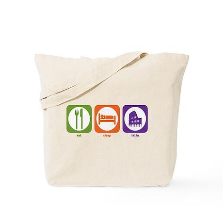 Eat Sleep Latin Tote Bag