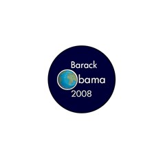 Earth Barack Obama 2008 Mini Button