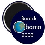 Earth Barack Obama 2008 Magnet