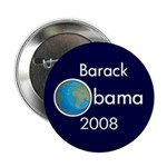Earth Barack Obama 2008 Button