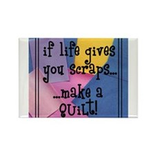 If Life Gives You Scraps - Qu Rectangle Magnet (10