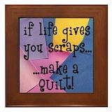 Scraps quilt Framed Tiles