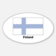 Finland Finnish Flag Oval Decal