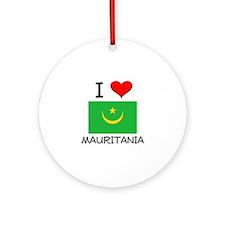 I Love Mauritania Ornament (Round)