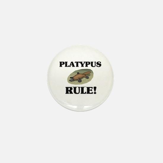 Platypus Rule! Mini Button