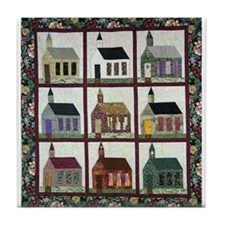 Church Quilt - Quilt Craft Tile Coaster