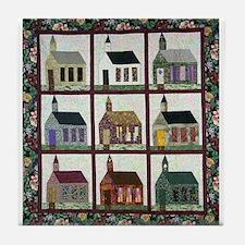Church Quilt - Quilt Craft Tile Coaster