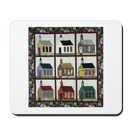 Church Quilt - Quilt Craft Mousepad