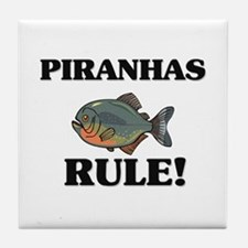 Piranhas Rule! Tile Coaster