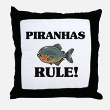 Piranhas Rule! Throw Pillow