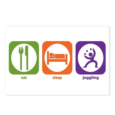 Eat Sleep Juggling Postcards (Package of 8)