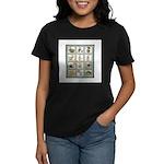 Bunny Rabbit Quilt Women's Dark T-Shirt