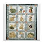 Bunny Rabbit Quilt Tile Coaster