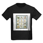 Bunny Rabbit Quilt Kids Dark T-Shirt