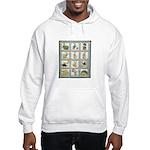 Bunny Rabbit Quilt Hooded Sweatshirt