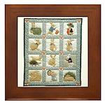 Bunny Rabbit Quilt Framed Tile
