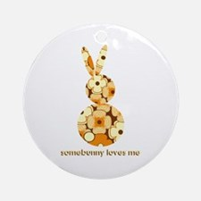 somebunny loves me #2 Ornament (Round)
