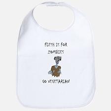 flesh is for ZOMBIES (PETA) Bib