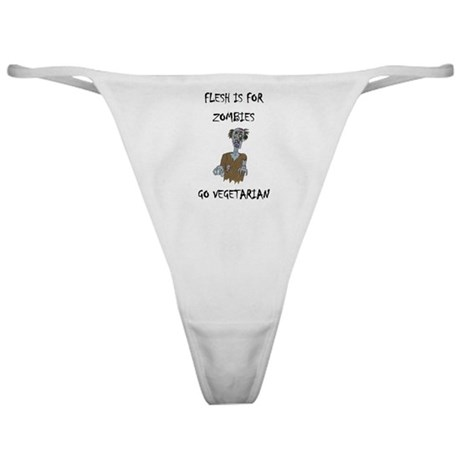 flesh is for ZOMBIES (PETA) Classic Thong