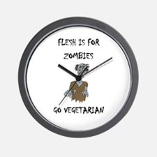 flesh is for ZOMBIES (PETA) Wall Clock