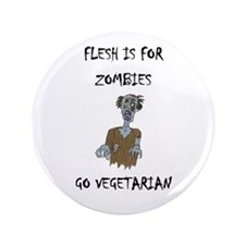 "flesh is for ZOMBIES (PETA) 3.5"" Button (100 pack)"