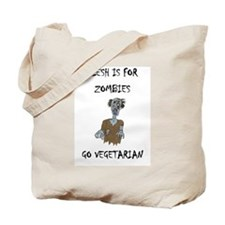 flesh is for ZOMBIES (PETA) Tote Bag