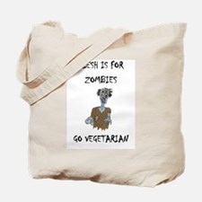 flesh is for ZOMBIES (PETA) Tote Bag