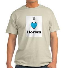 I LOVE HORSES Ash Grey T-Shirt