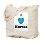 I LOVE HORSES LUCKY Tote Bag