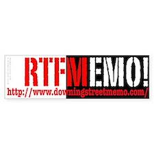 RTFMemo Bumper Bumper Sticker