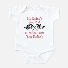 Daddys Hot Rod Is Fast Onesie