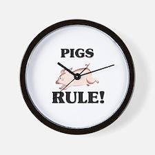 Pigs Rule! Wall Clock