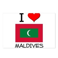I Love Maldives Postcards (Package of 8)
