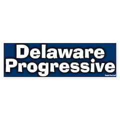 Delaware Progressive Bumper Bumper Sticker