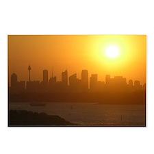 Sydney City Skyline Sunset Postcards (Pack of 8)