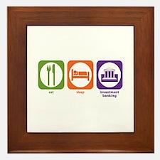 Eat Sleep Investment Banking Framed Tile