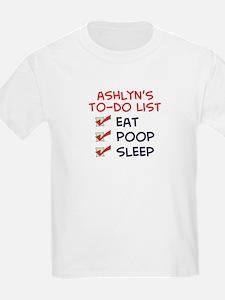 Ashlyn's To-Do List T-Shirt
