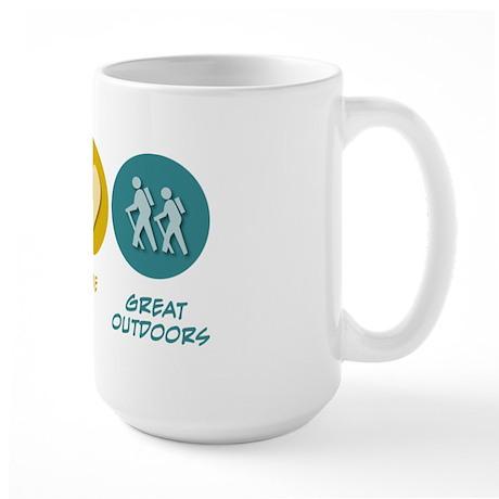 Peace Love Great Outdoors Large Mug