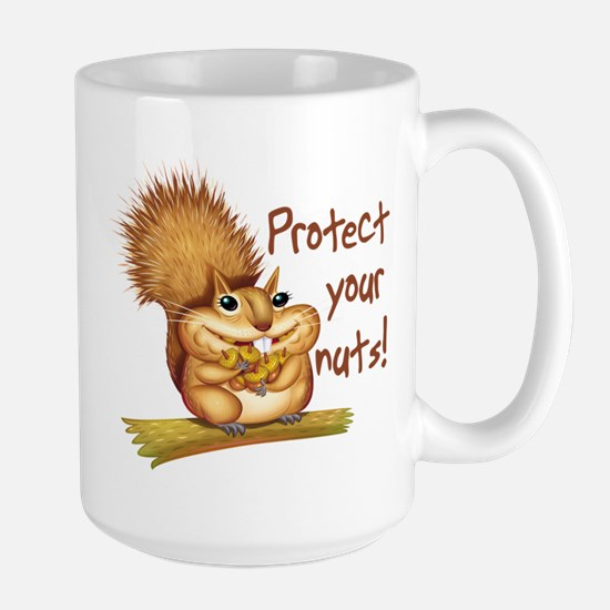 Protect Your Nuts Large Mug