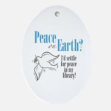 Peace on Earth 2 Oval Ornament